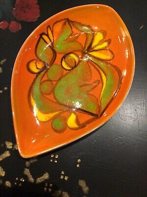 POOLE, CYNTHIA BENNETT ? Large dish plate Mid Century space age pop