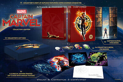 Captain Marvel 3D+2D Blu-Ray Steelbook Zavvi Collector's Boxset [Uk]