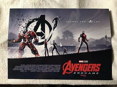 "AVENGERS ENDGAME AMC IMAX EXCLUSIVE POSTER 11"" x 15.5"""