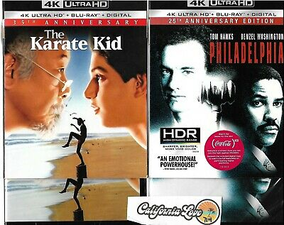 The Karate Kid + Philadelphia 4K Ultra Hd + Blu-Ray 2-Movie ✔☆Mint☆✔ No Digital