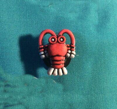 Cute Red LOBSTER / Crawfish Sea life Animal Beach Holey Clog Shoe Charm