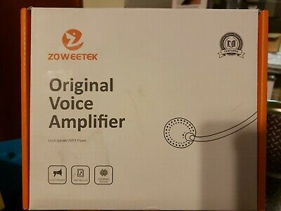 Zoweetek Portable Rechargeable Mini Voice Amplifier With Wired Microphone Headse