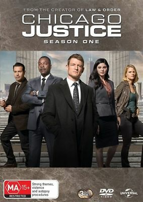 Chicago Justice : Season 1 (DVD, 2018, 3-Disc Set) New and Sealed.