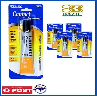 BAZIC Strong CONTACT CEMENT Adhesive Glue Bond & Seal Tile Rubber Wood Metal