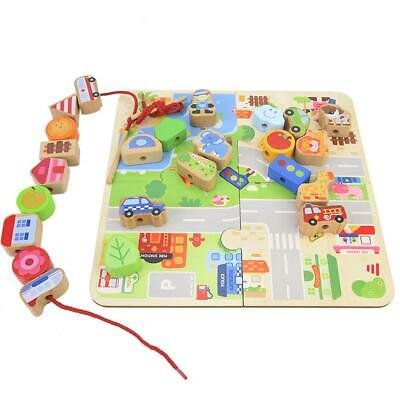 Baby Wooden Toy Mini Around the Beads Wire Colorful Educational Game Kids Toys