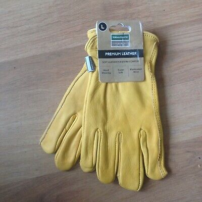 Town & Country Mens Premium Soft Leather Gardening Garden Outdoor Gloves Large