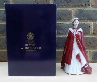 ROYAL WORCESTER Figurine - Queen's 80th Birthday