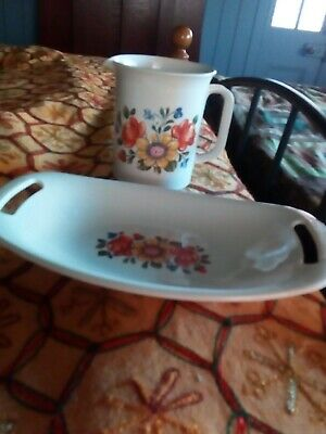 vintage retro jug and tray