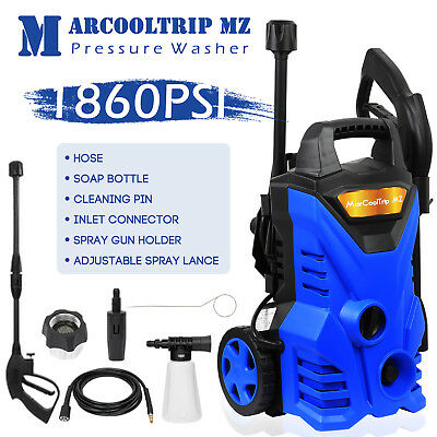 Electric High Pressure Washer 1860 PSI/128 BAR Power Jet Water Patio Car Cleaner