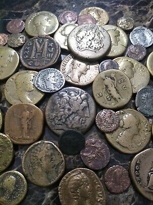42 larger Ancient Roman Greek Coins  Sestertius Dupondius collection lot. Nice!