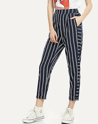 PANTALONI DONNA RIGHE Vita Alta Zara EUR 20,00 | PicClick IT