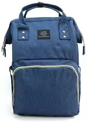 LAND Diaper Bag for Mom Dad, Roomy Baby Backpack Organizer Large Capacity Blue