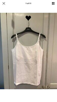 New Next Nursing Breastfeeding White Top Clips To Feed Size 12