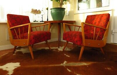 Pair Of Mid Century Vintage German / Danish Armchairs Chairs 1965 May18-23