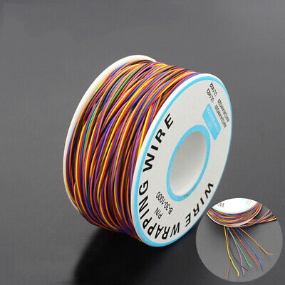 820 Feet/Roll 30AWG Insulated Single Core Copper PCB Wrapping Wire Breadboard