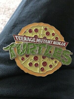 TMNT Teenage Mutant Ninja Turtles Belt Buckle 2009 Pizza
