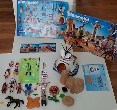 Playmobil Western 5247 Native American Camp Indian Teepee Totem Pole