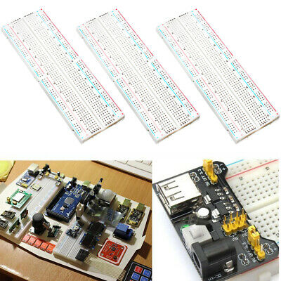 Solderless Prototype PCB Breadboard 170 400 830 Hole Optional X40 Jump Wires