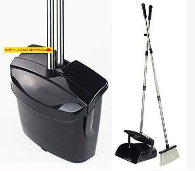 Broom And Dustpan Set, Commercial Long Handle Sweep Set And Lobby Broom,Upright