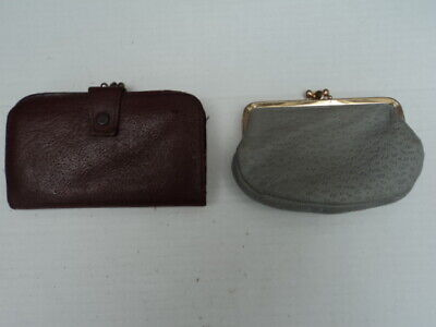 Two genuine vintage real leather purses.