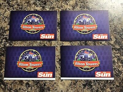 4 Alton Towers tickets - FRIDAY 11th OCTOBER 2019