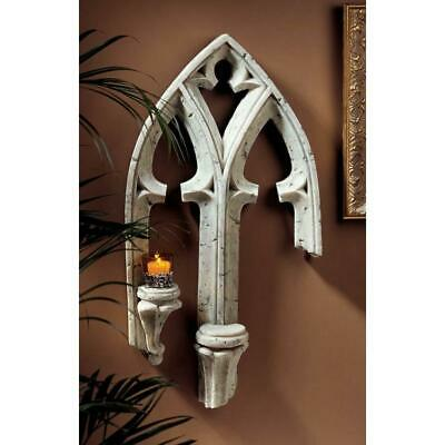 """30""""  Medieval Gothic Frankenberg Palace Architectural Wall Sculpture"""