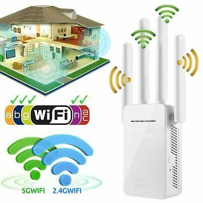 Dual-Band Wifi Extender Repeater Wireless Router Range Network Signal Booster VW
