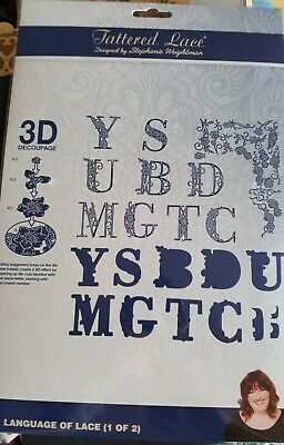 Tattered Lace Language of Lace 3D Decoupage dies - x2  Free UK p&p