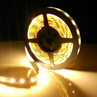 5M 3528 300LEDs Strip Stripe Streifen Band Leiste Lichterkette Warmweiß 12V IP20