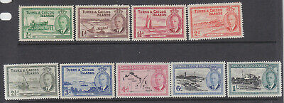 Turks and Caicos Islands 1950 part set MH