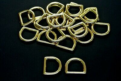 20mm Solid Brass D-Rings Horse Reigns Leather Straps Hardware Dog Leads Collars
