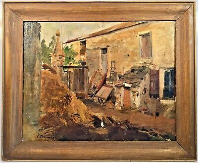 Listed French Artist Eugène Louis Boudin (1824-1898) Signed Oil On Canvas