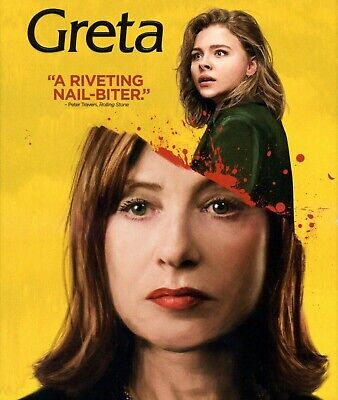Greta 2018 R psychological thriller movie, new DVD, Chloë Grace Moretz, Huppert