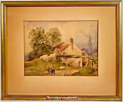 Listed English Artist John Constable (1776-1837) Signed Watercolor Painting