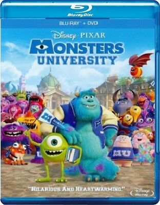 Disney*Pixar's Monsters University (Blu-ray/DVD, 2013; 3-Disc Set)