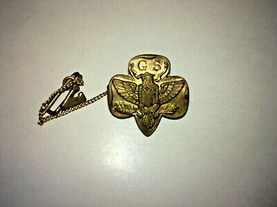Girl Scout 1941-85 Fifteen 15 YEAR XV NUMERAL GUARD Roman Number Membership Pin