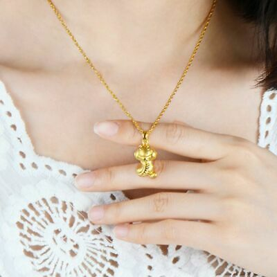 Charming 3D Gold Plated Chinese 12 Zodiac Pendant Necklace Jewelry Birthday Gift