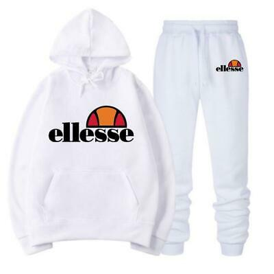 Ellesse 2 pcs Femmes Survêtement Hoodies Sweatshirt Pantalon Ensembles Costume