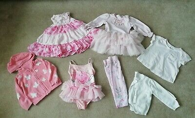 Beautiful Pink Baby Girls Bundle 9-12 Months Peppa Pig Tutu Swimming Costume...