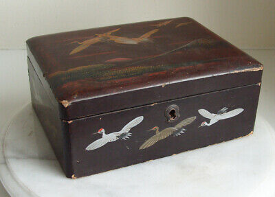 Vintage Japanese lacquered oriental  box