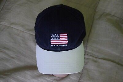 Polo Sport Ralph Laurencap baseball hat USA  flag spell out one size