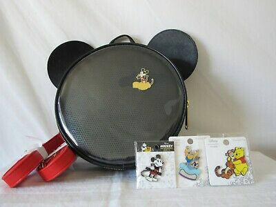 1321ddc59 LOUNGEFLY DISNEY MICKEY Mouse Pin Collector Mini Backpack ~ NEW & RARE