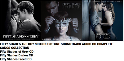 FIFTY 50 SHADES FREED DARKER GREY MOTION PICTURE SOUNDTRACK OST AUDIO CD New UK