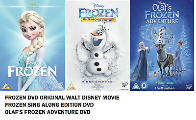 FROZEN DVD + SING ALONG + OLAF ADVENTURE COLLECTION singalong songs New UK R2
