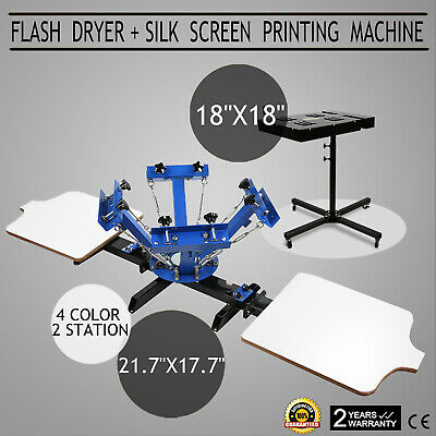 "18""X18""Screen Printing Flash Dryer Pressing Press 4 Color GREAT WISE CHOICE"