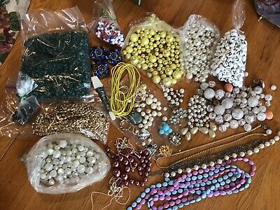 Big Lot Of Vintage Beads For Jewelry Making & Crafts