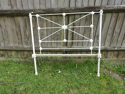 Iron bed head, single bed, late Victorian or early Edwardian