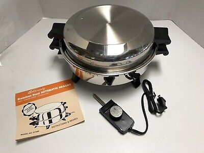 Society Regal Ware West Bend Liquid Core Electric Skillet Never Used New In Box