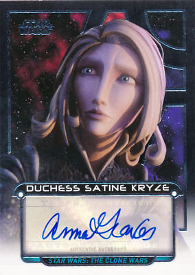Star Wars Galactic Files Reborn Autograph AU-AGR Satine Kryze LTD 199 Topps 2017