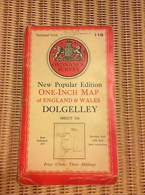 Vintage Ordnance Survey OS map - 1940s - sheet 116 Dolgelley